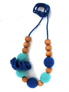 Borstvoedingsketting Blueberry Met Bloem