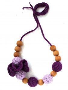Borstvoedingsketting Lavender Met Bloem