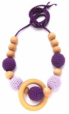 Borstvoedingsketting Lavender Met Ring